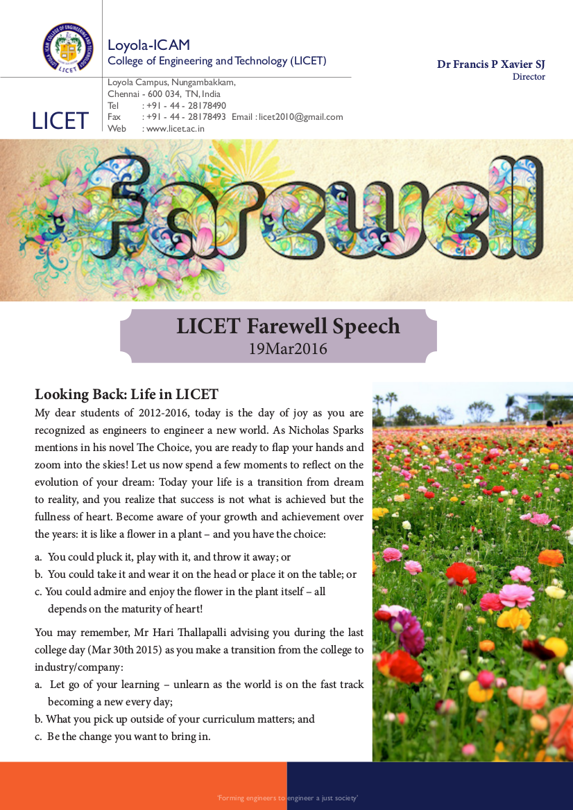 2 LICET Farewell Message 190316