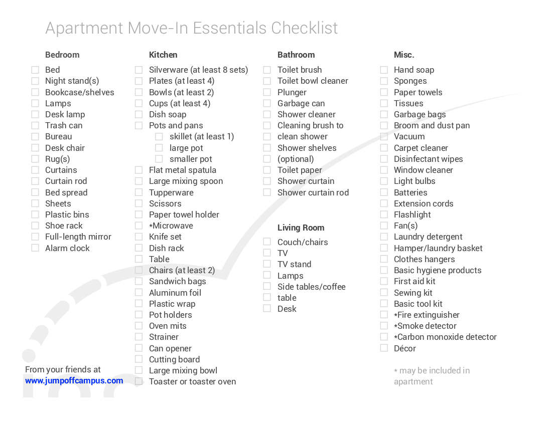 9+ New Apartment Checklist Examples & Samples