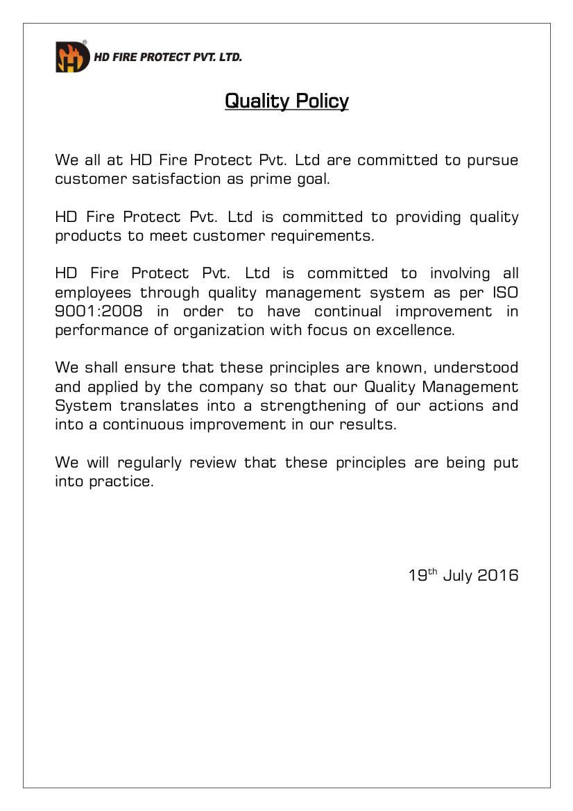 20 HD Quality Policy 2016