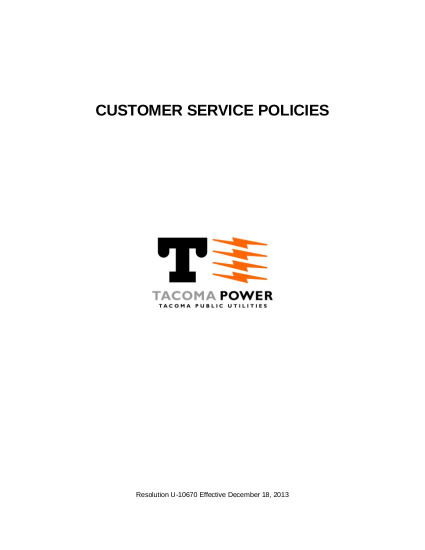 20 customer service policies