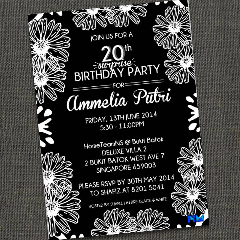 20th surprise birthday party invitation