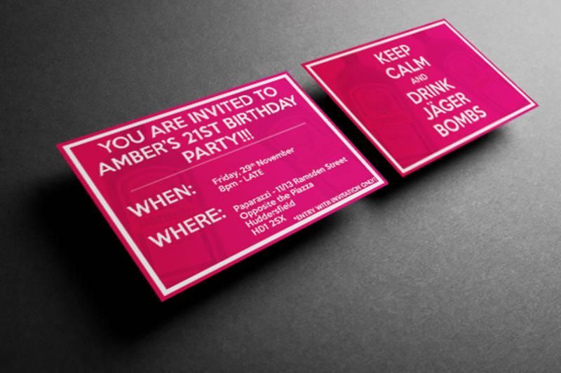 21st birthday party invitation design