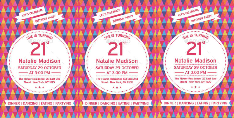 21st birthday party invitation template