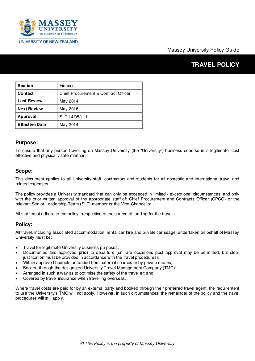3 travel policy