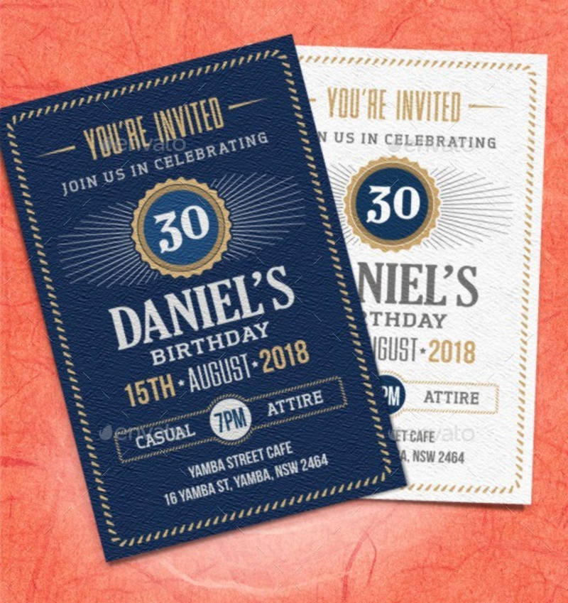 30th birthday celebration invitation