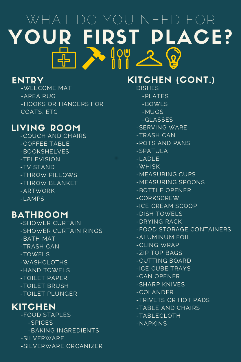 4 first apartment checklist