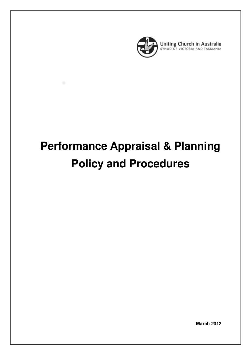 4 performance appraisal policy and procedures 2011 2012