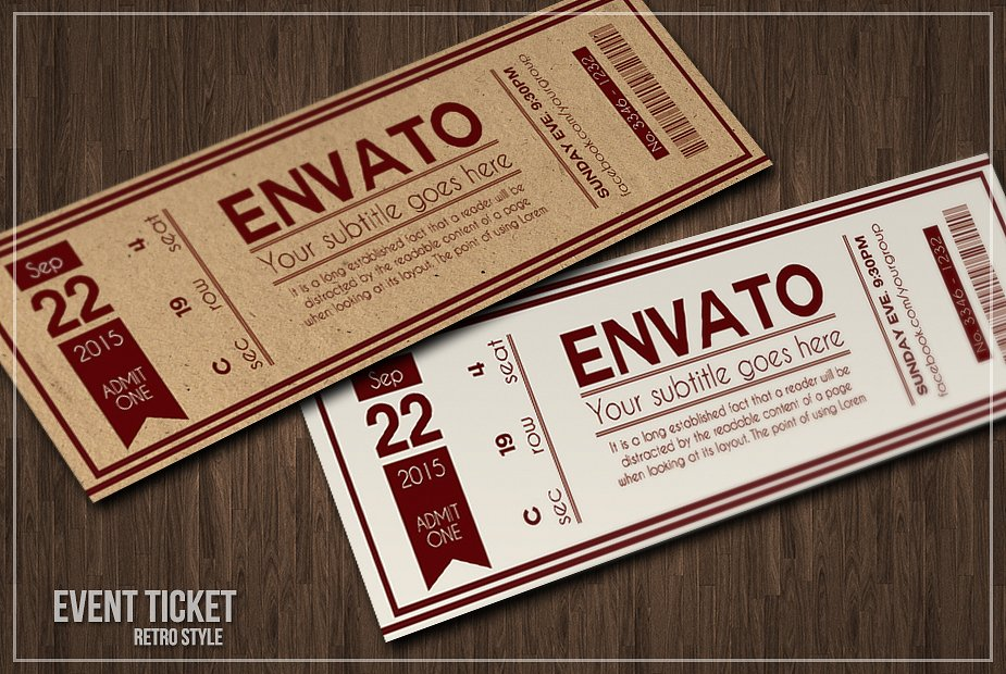 15 Event Ticket Examples In Psd Ai Eps Vector