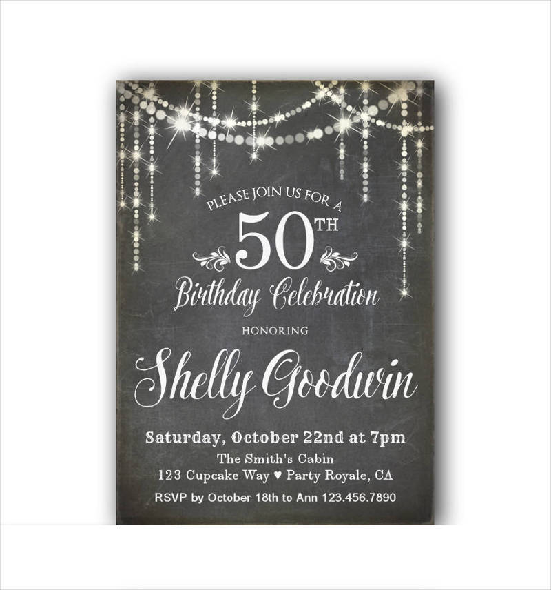 50th birthday invitation for her1