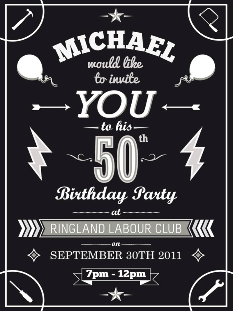13+ 50th Birthday Invitation Designs and Examples – PSD, AI
