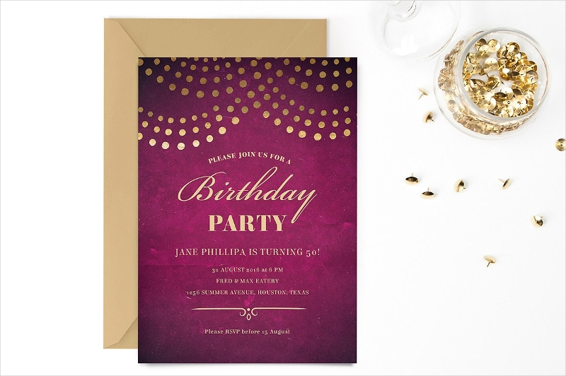 50th birthday party invitation template1