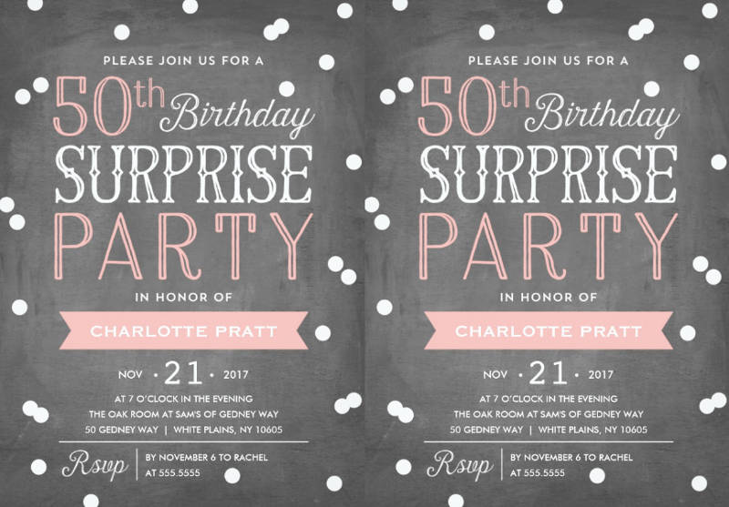 50th birthday surprise party celebrate invitation
