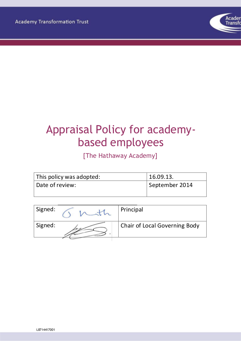 6 appraisal policy