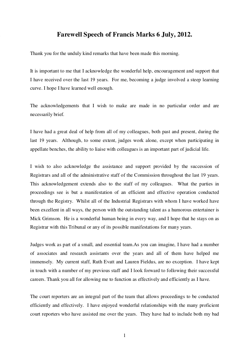 11 Farewell Speech Examples Free Pdf Download Format