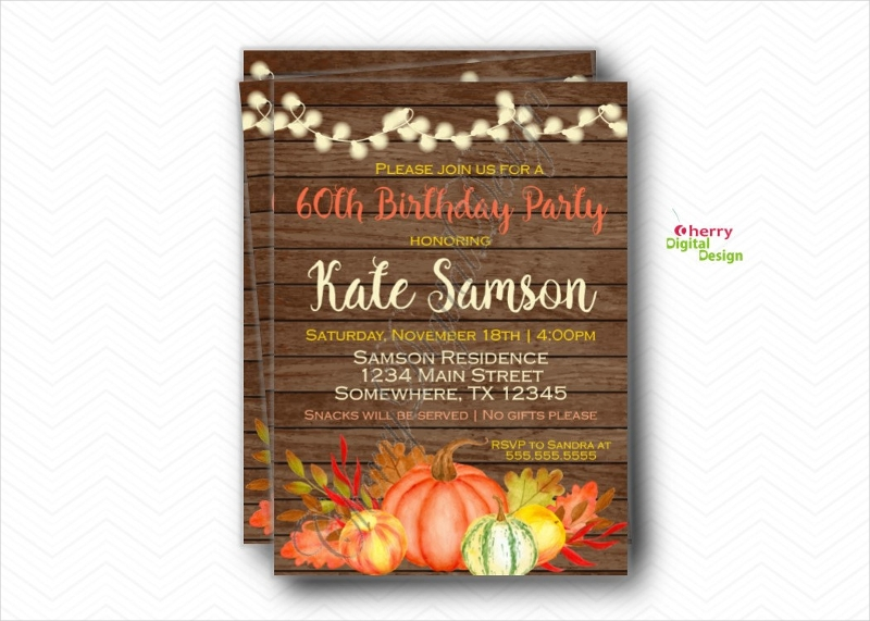60th birthday party invitation1