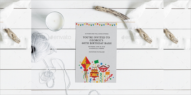 60th birthday party invitation3