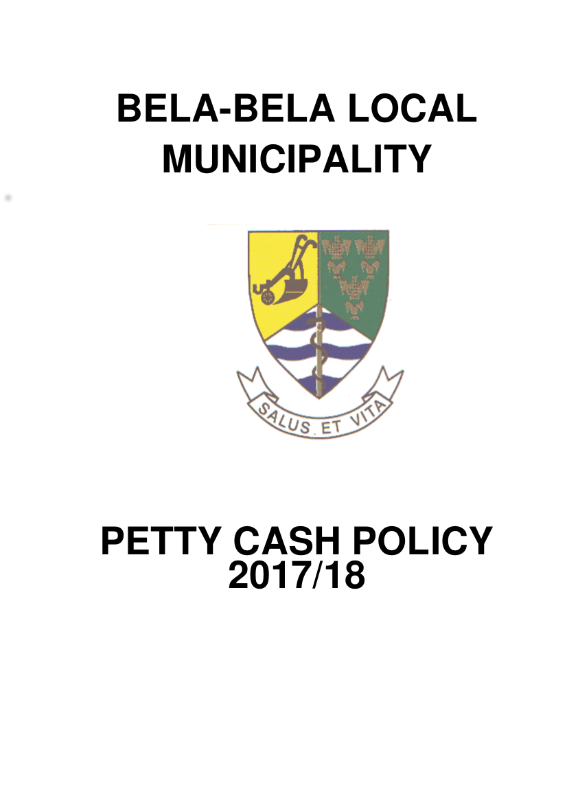 7 petty cash policy