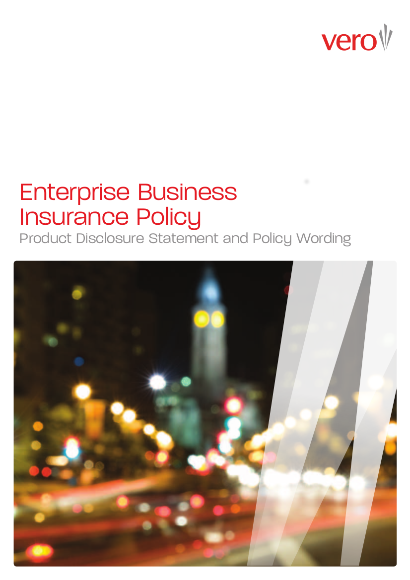 7 vero enterprise business insurance pds policy wording