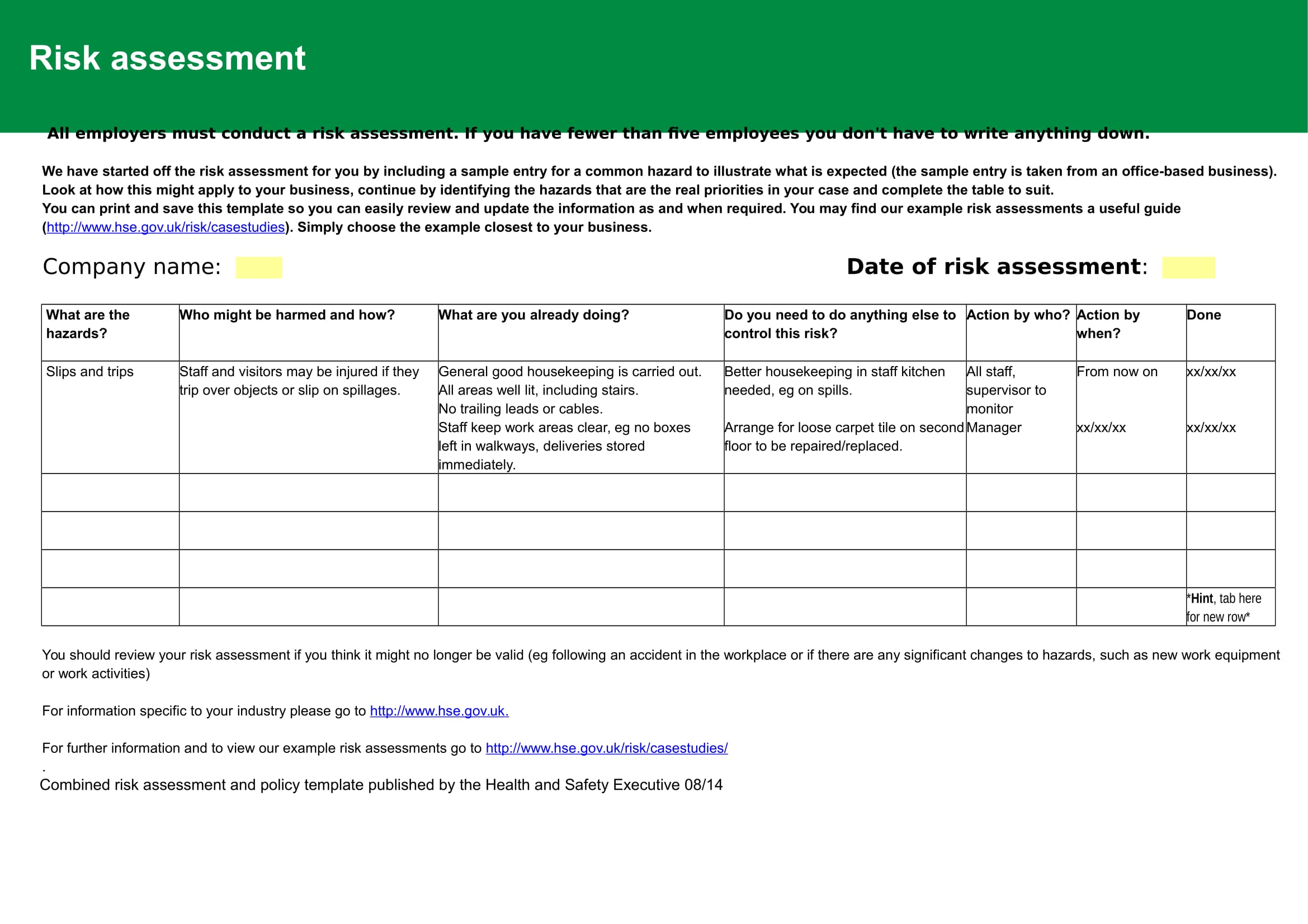 8 risk assessment and policy template 2