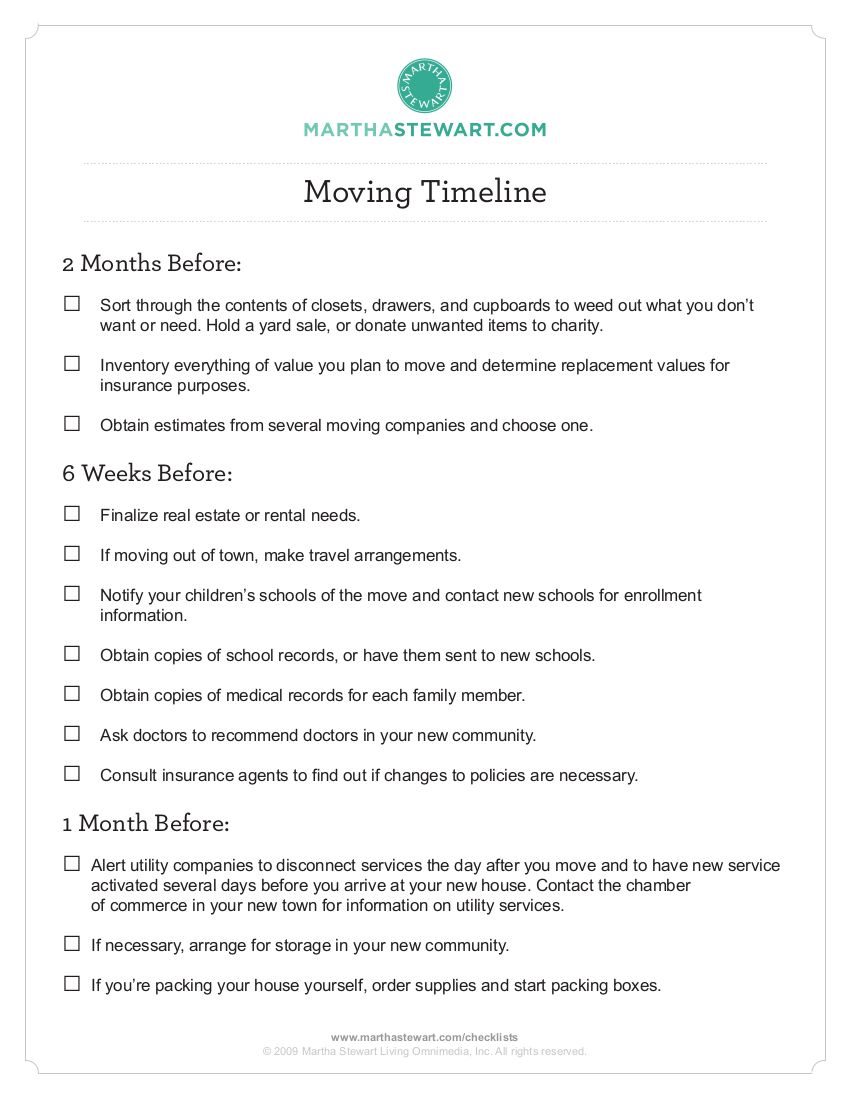 9 ms checklist moving