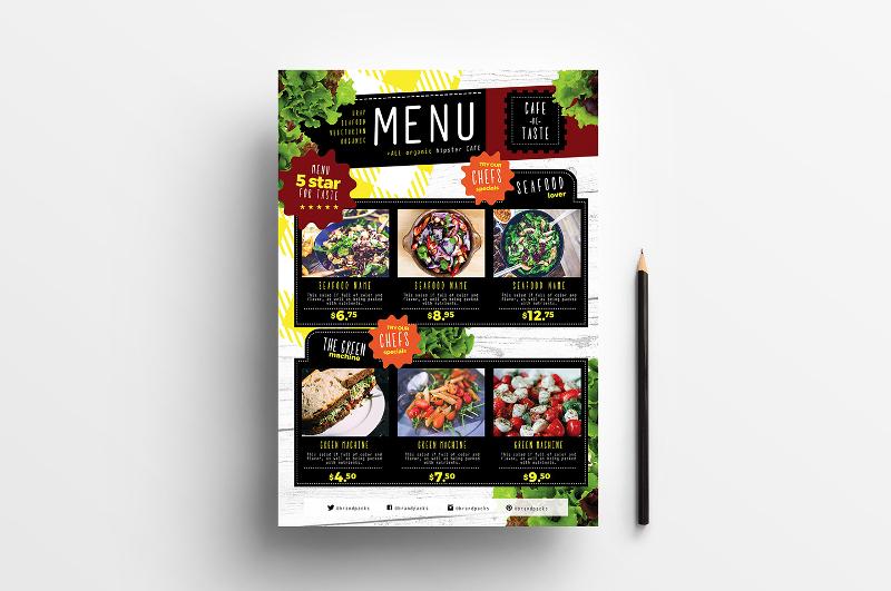 a4 salad menu