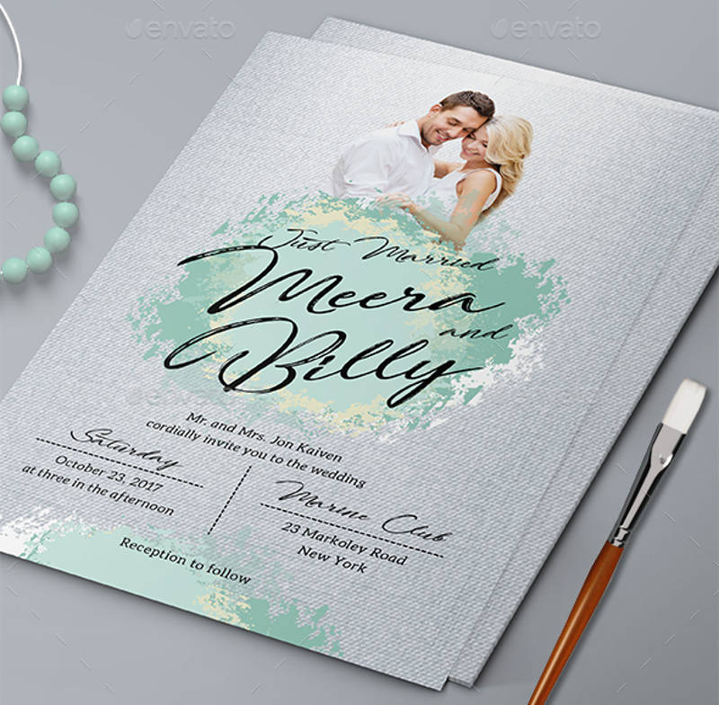 abstract wedding rsvp invitation