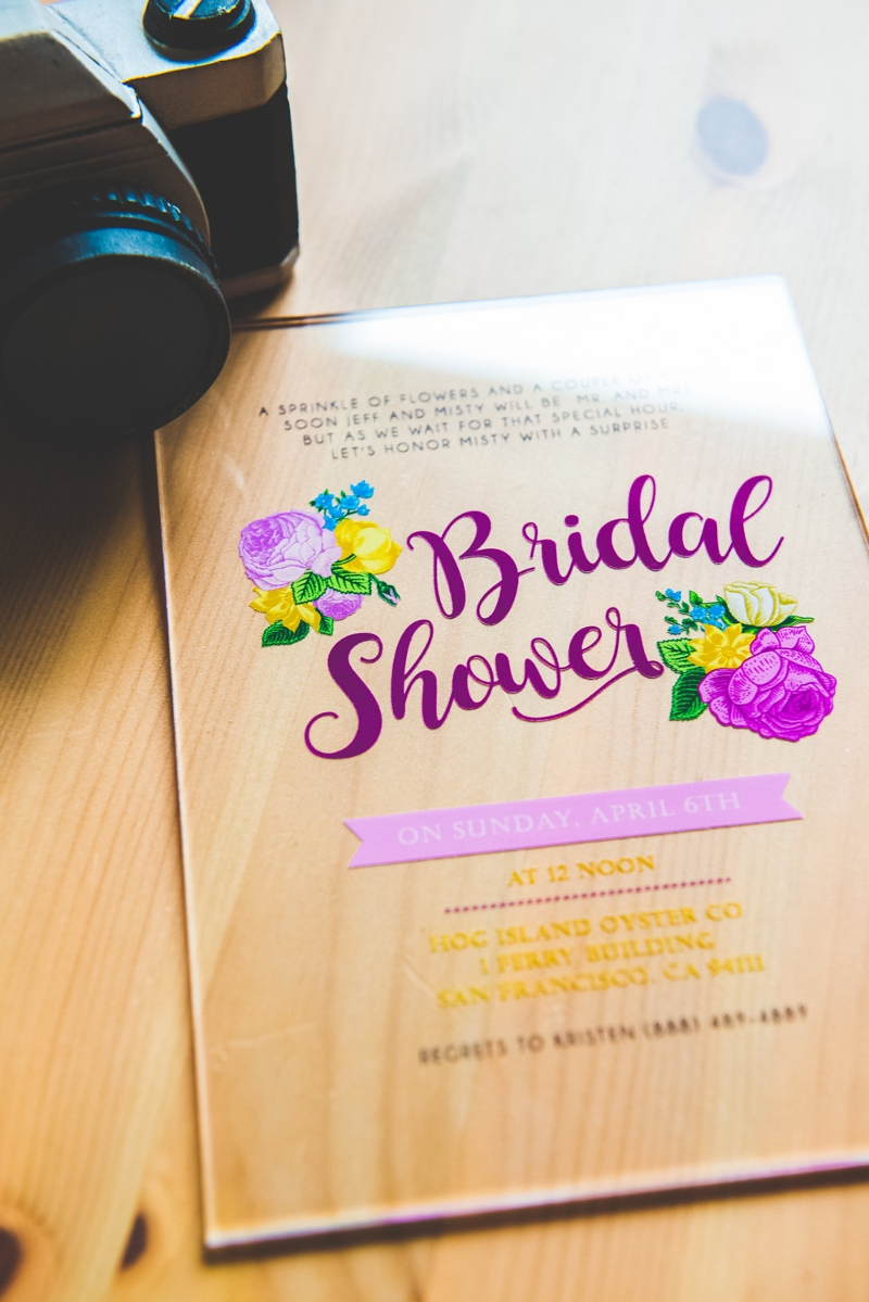 acrylic invitation for bridal shower design