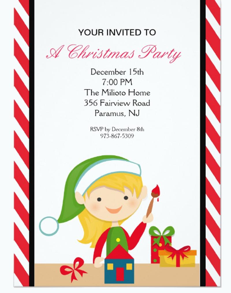 adorable christmas workshop invitation