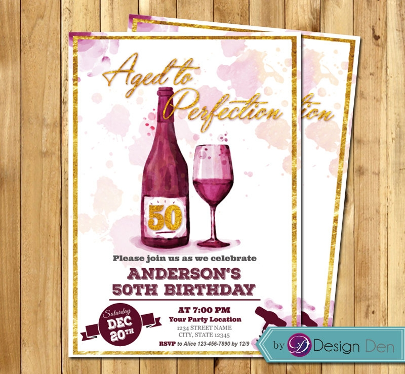 adult wine invitation design