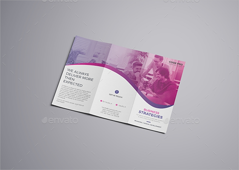 agency brochure trifold template