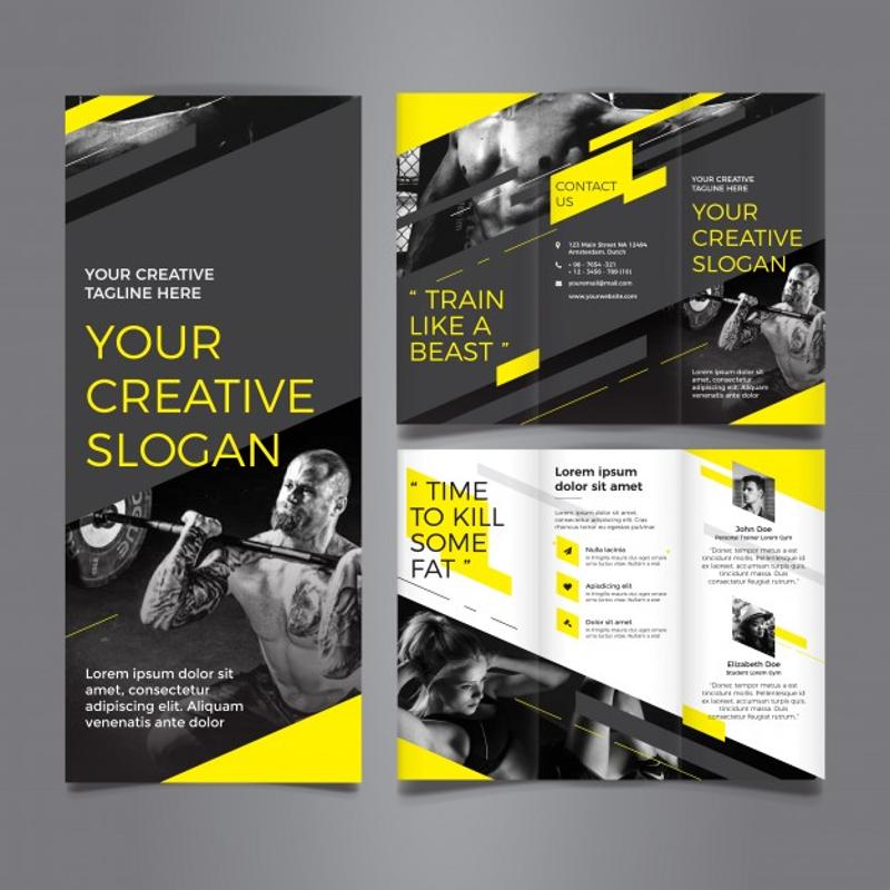amazing gym trifold brochure