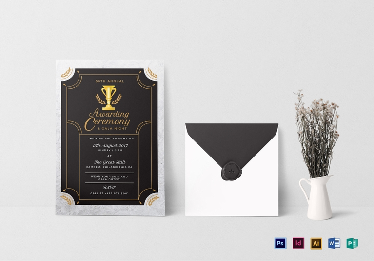 annual award ceremony invitation