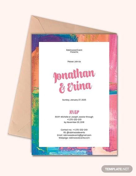 art deco wedding invitation1