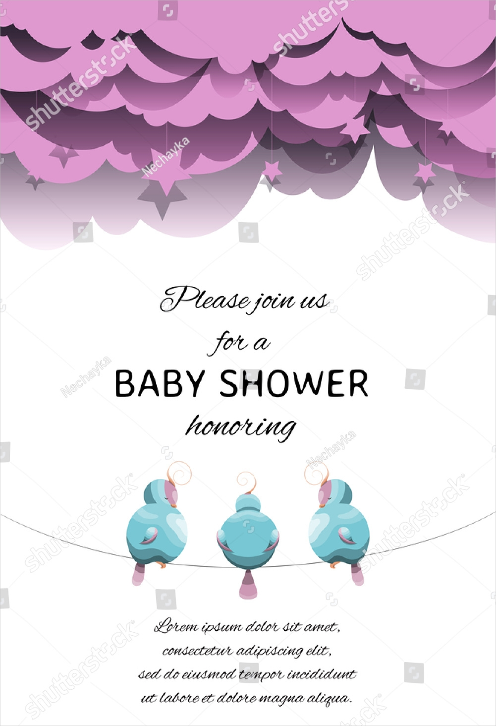 artistic gender reveal invitation1