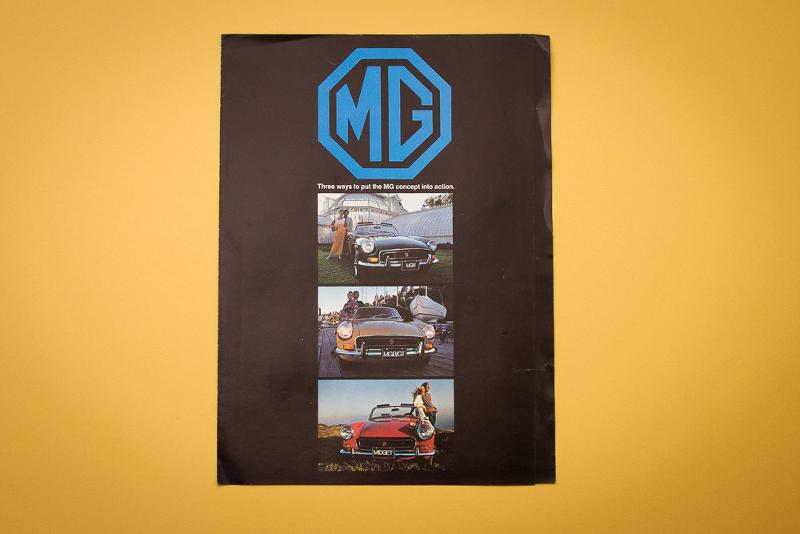 automobile retro brochure