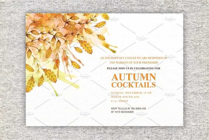 autumn cocktail party invitation1