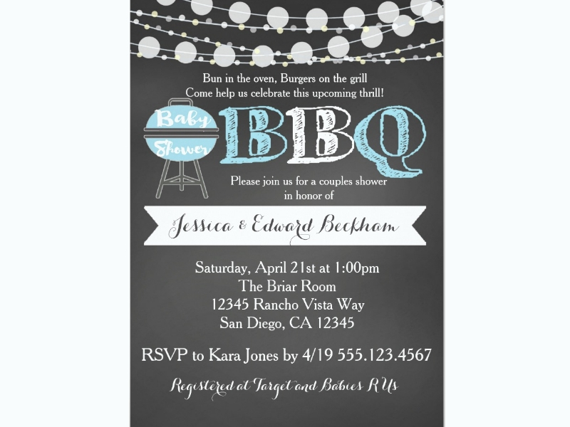 bbq couples baby shower invitation1
