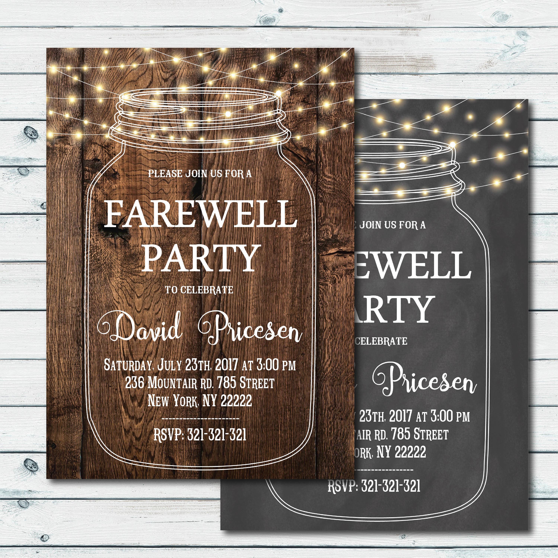 bbq farewell party invitation