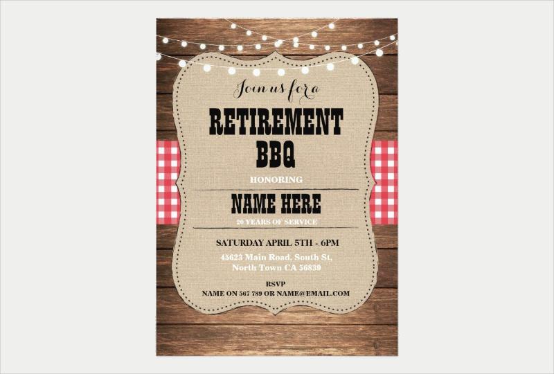 bbq retirement invitation party