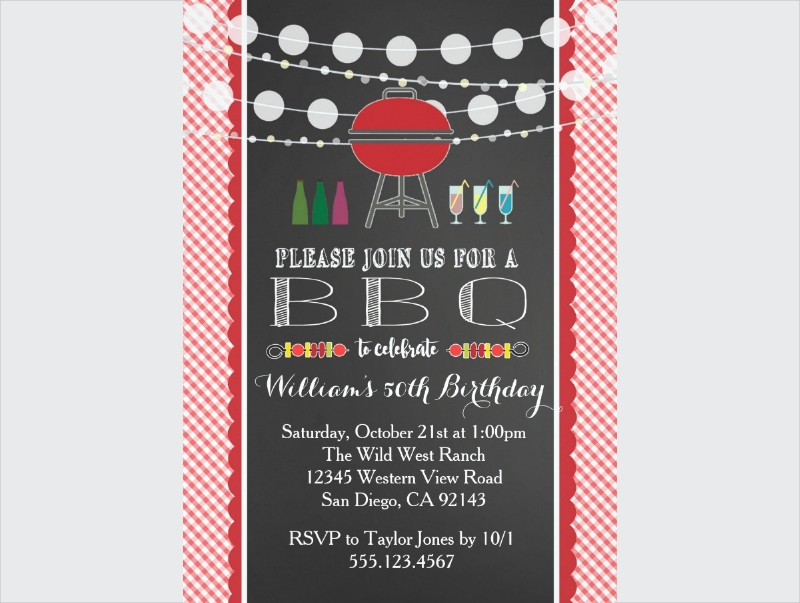 bbq retirement party invitation