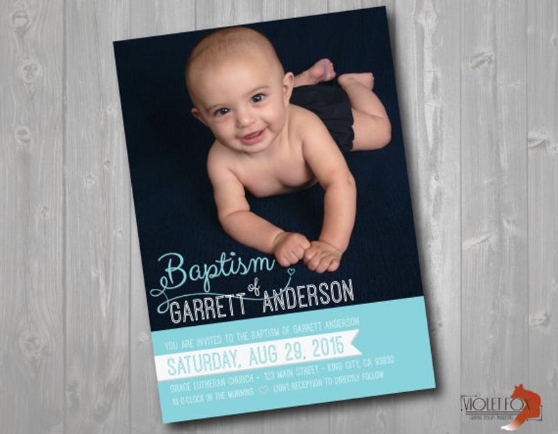 baby baptism church invitation