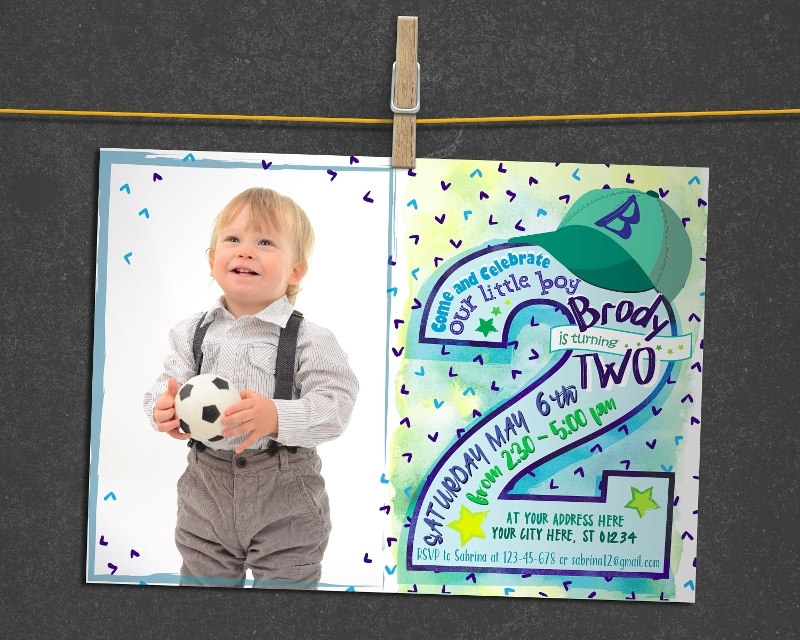 baby boy birthday invitation