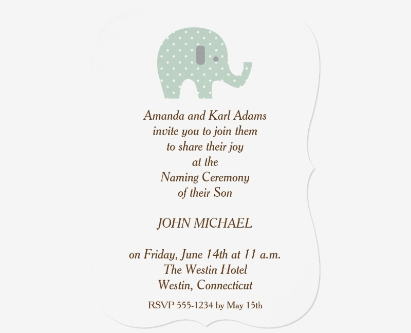 baby boy naming ceremony invitation