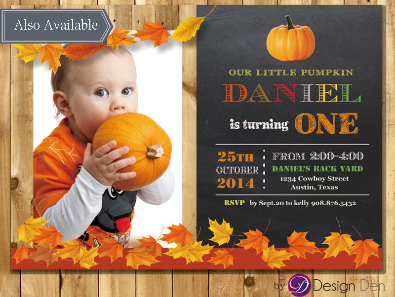 baby fall invitation