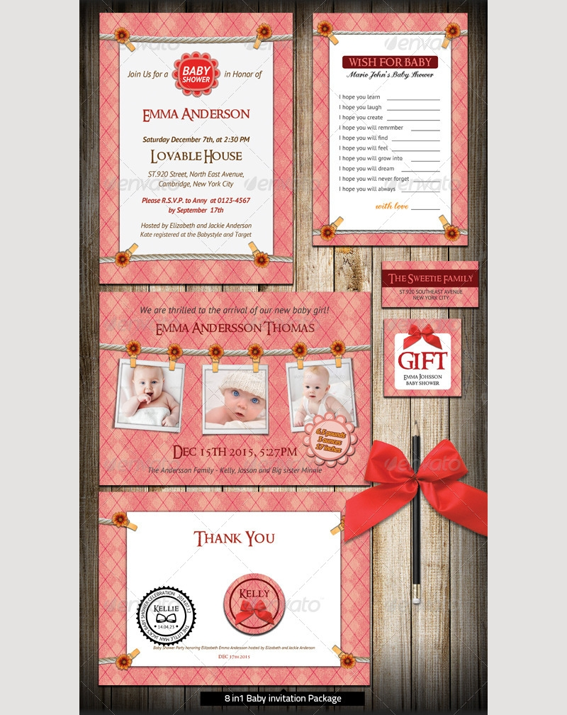 baby invitation package