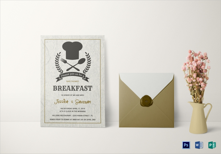 baby shower breakfast invitation