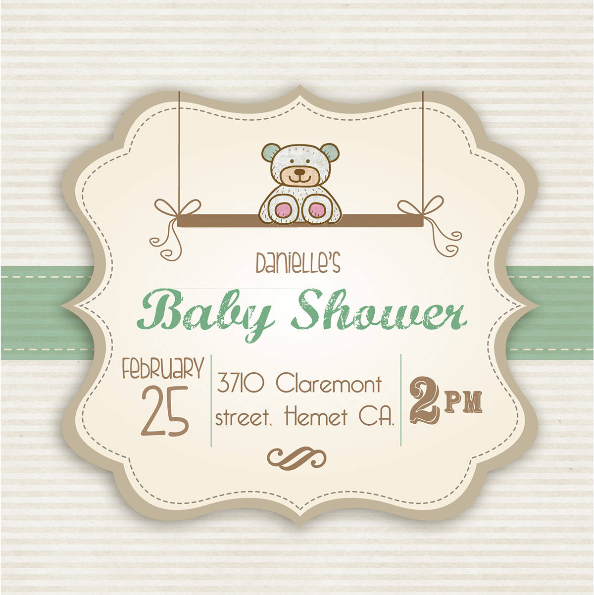 baby shower invitation in illustration