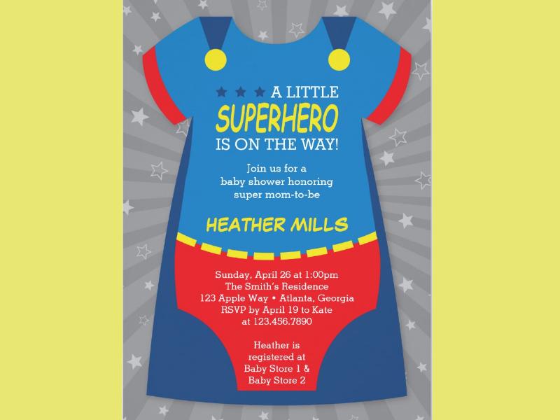 baby shower superhero invitation1