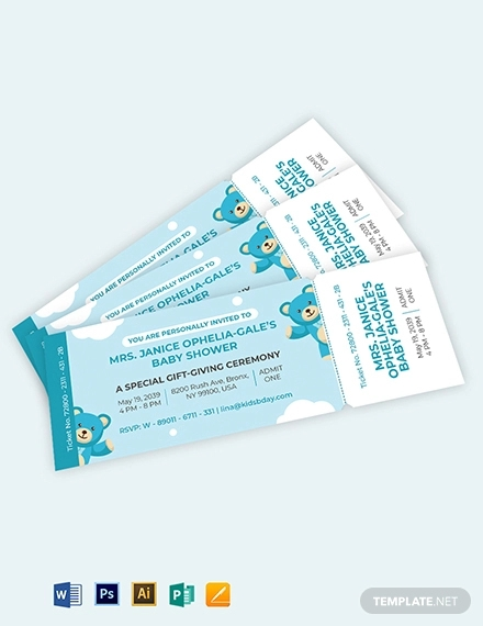 baby shower ticket invitation