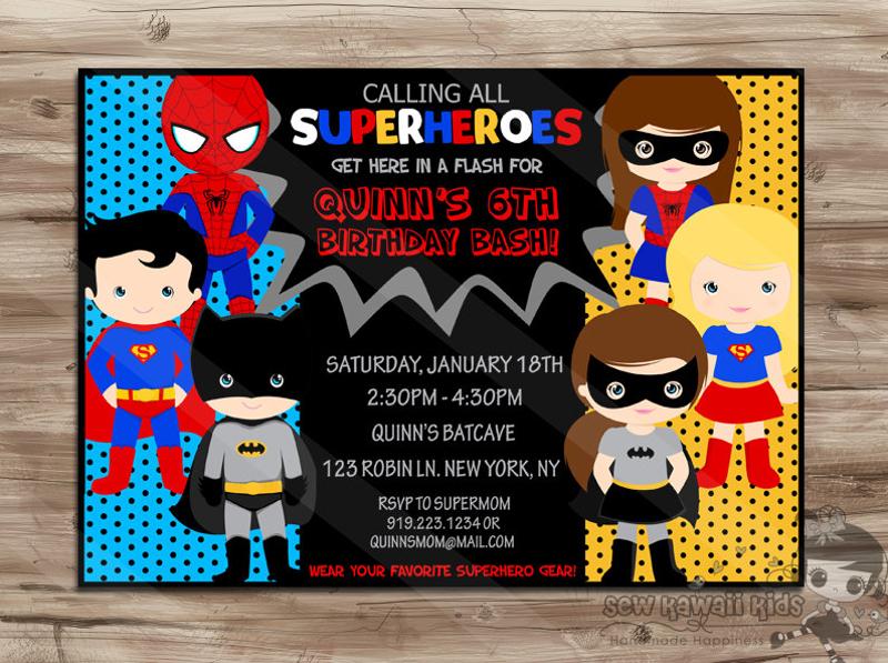 baby superhero invitation